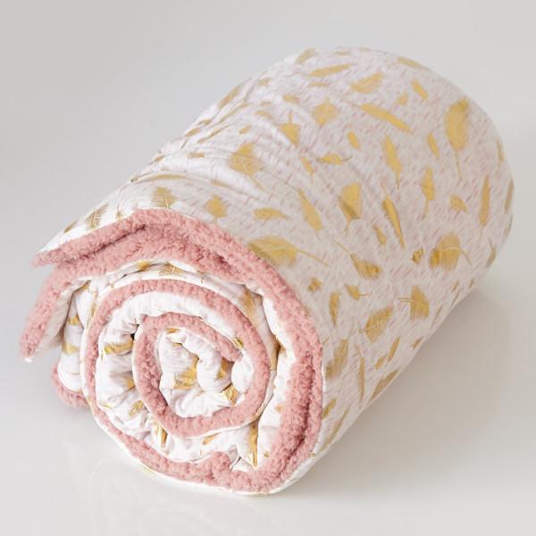 Κουβέρτα Καναπέ Melinen Sparkle Cashmere Rose