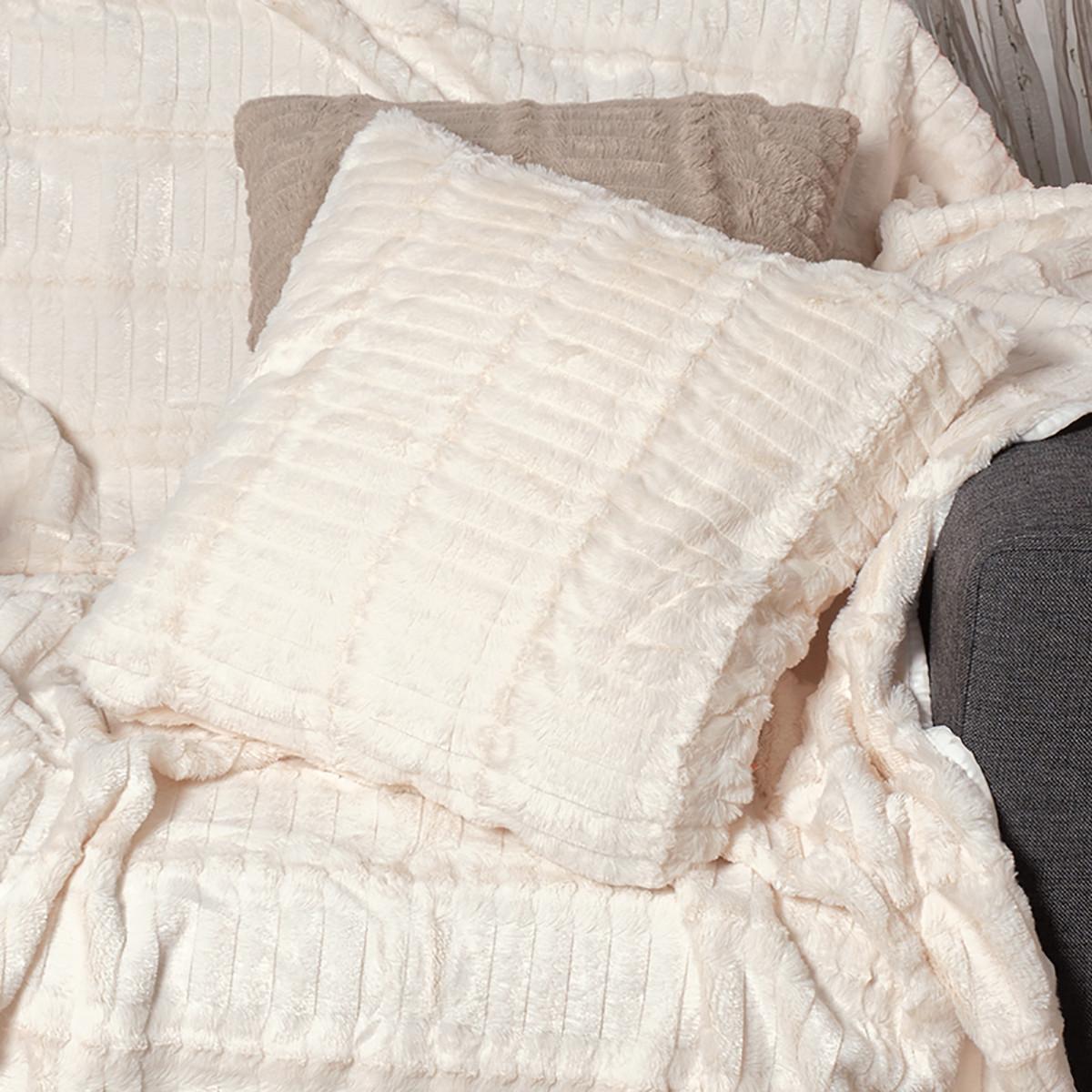 Διακοσμητική Μαξιλαροθήκη (45×45) Silk Fashion Stripe Ivory