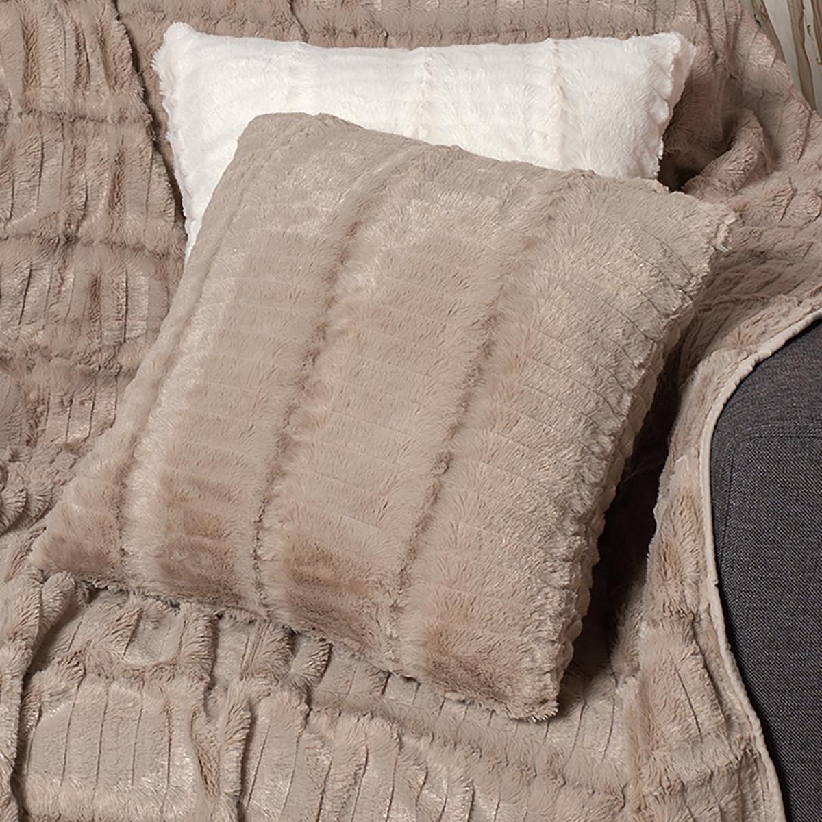 Διακοσμητική Μαξιλαροθήκη (45×45) Silk Fashion Stripe Beige