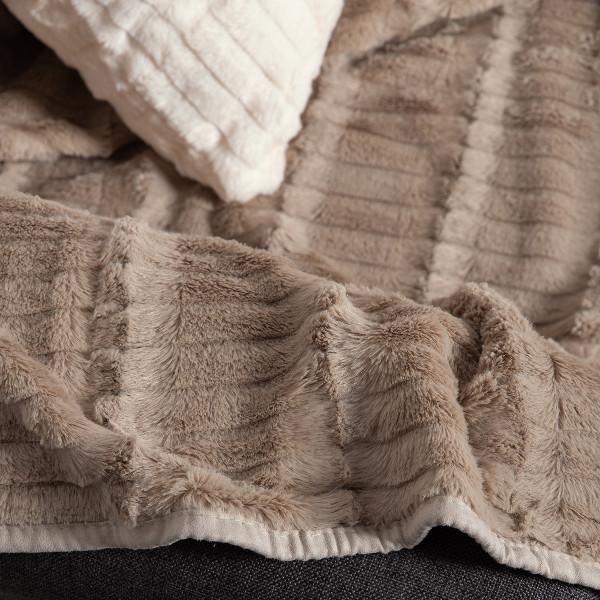 Διακοσμητική Μαξιλαροθήκη (45x45) Silk Fashion Stripe Beige