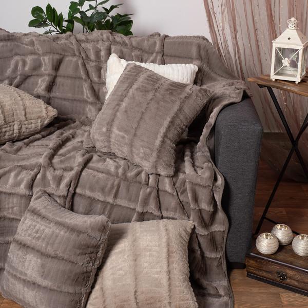 Διακοσμητική Μαξιλαροθήκη (45x45) Silk Fashion Stripe Grey