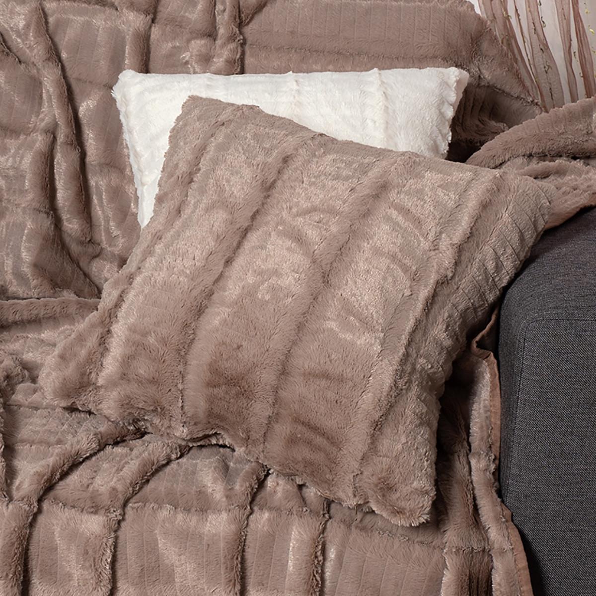Διακοσμητική Μαξιλαροθήκη (45×45) Silk Fashion Stripe Coffee