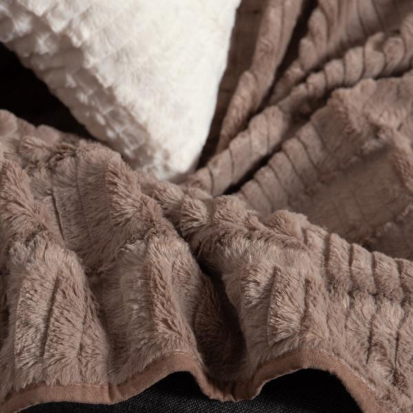 Διακοσμητική Μαξιλαροθήκη (45x45) Silk Fashion Stripe Coffee