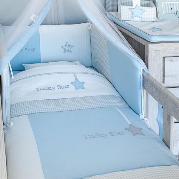 Σεντόνια Λίκνου (Σετ) Baby Oliver Lucky Star Blue 309