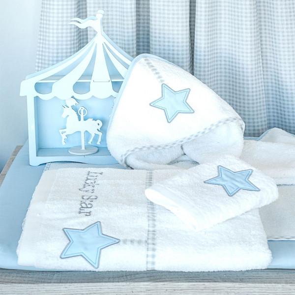Βρεφικές Πετσέτες (Σετ 2τμχ) Baby Oliver Lucky Star Blue 309