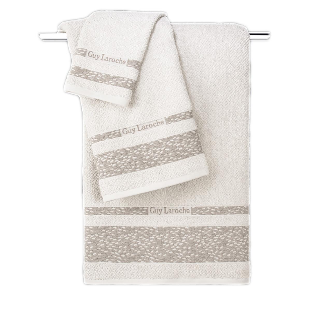 Πετσέτες Μπάνιου (Σετ 3τμχ) Guy Laroche Anton Cream