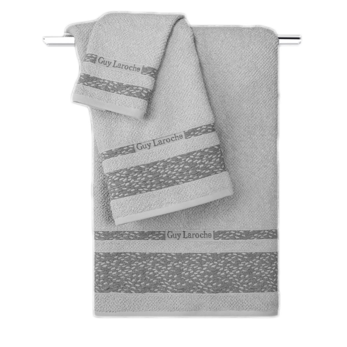Πετσέτες Μπάνιου (Σετ 3τμχ) Guy Laroche Anton Grey