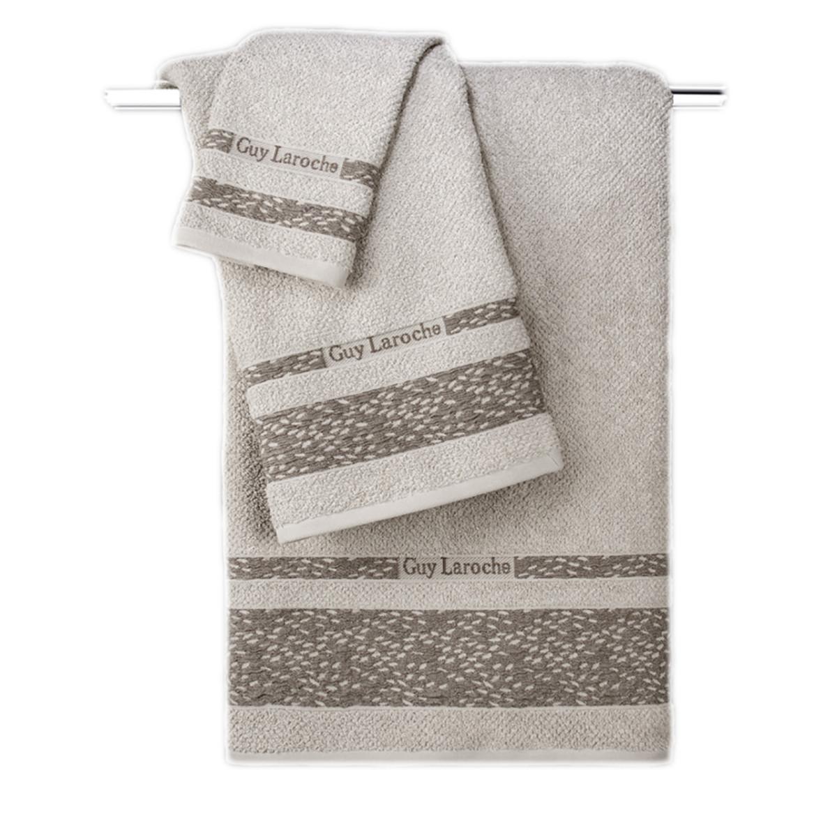 Πετσέτες Μπάνιου (Σετ 3τμχ) Guy Laroche Anton Natural