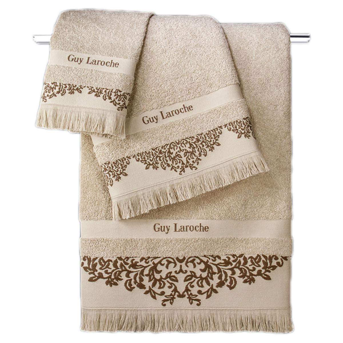 Πετσέτες Μπάνιου (Σετ 3τμχ) Guy Laroche Alinda Beige