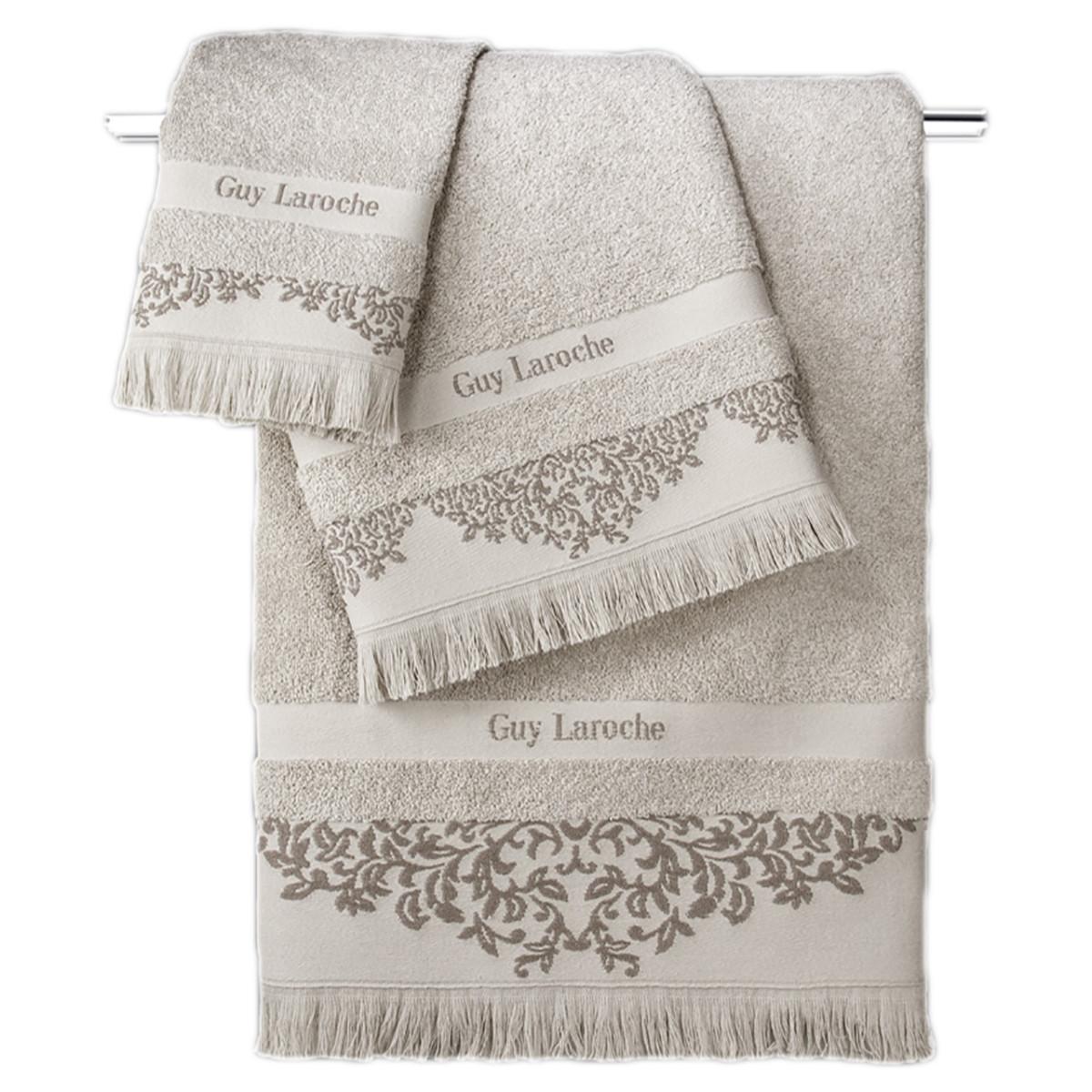 Πετσέτες Μπάνιου (Σετ 3τμχ) Guy Laroche Alinda Natural