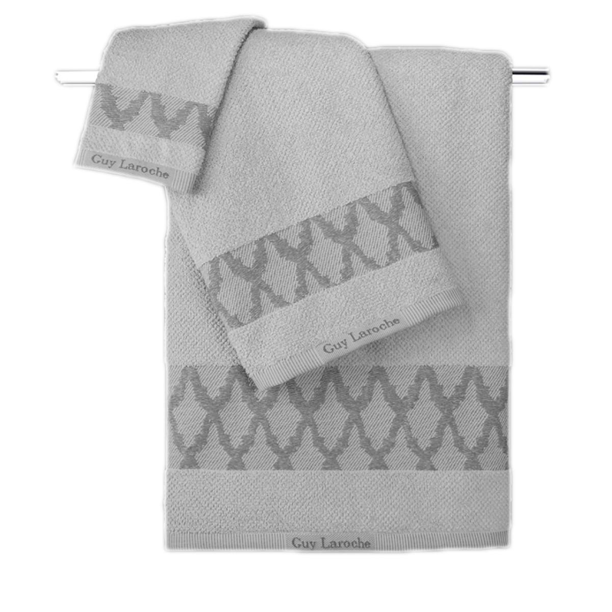 Πετσέτες Μπάνιου (Σετ 3τμχ) Guy Laroche Carlin Grey