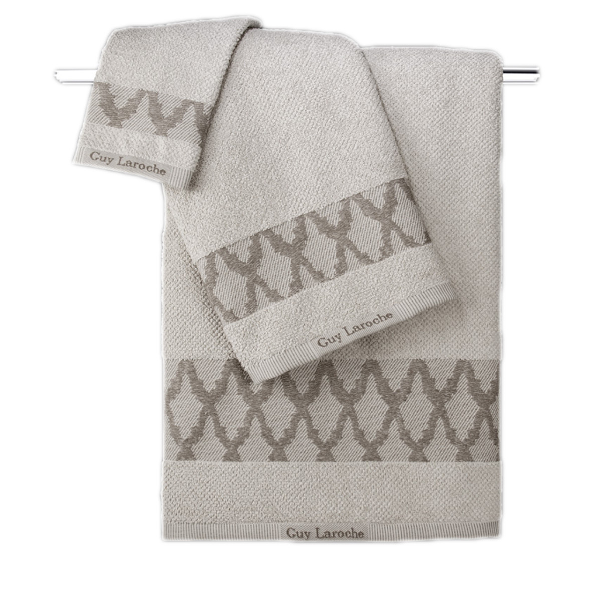 Πετσέτες Μπάνιου (Σετ 3τμχ) Guy Laroche Carlin Natural