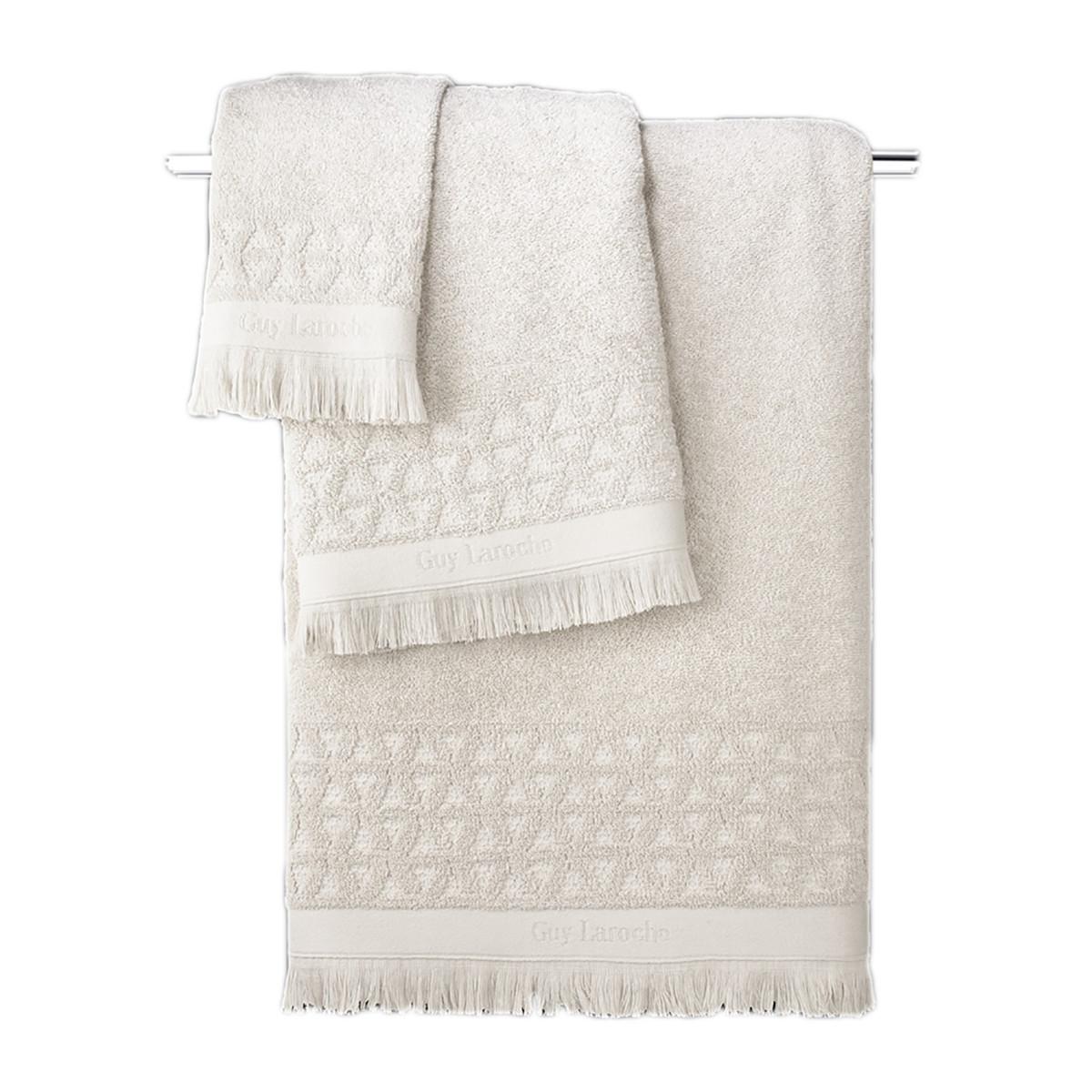 Πετσέτες Μπάνιου (Σετ 3τμχ) Guy Laroche Vergo Cream