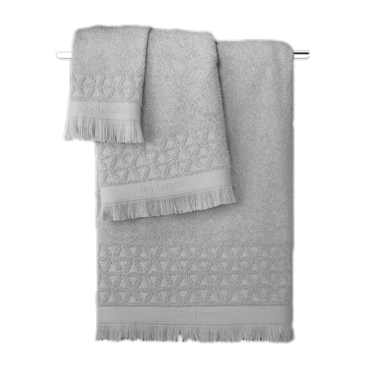 Πετσέτες Μπάνιου (Σετ 3τμχ) Guy Laroche Vergo Grey