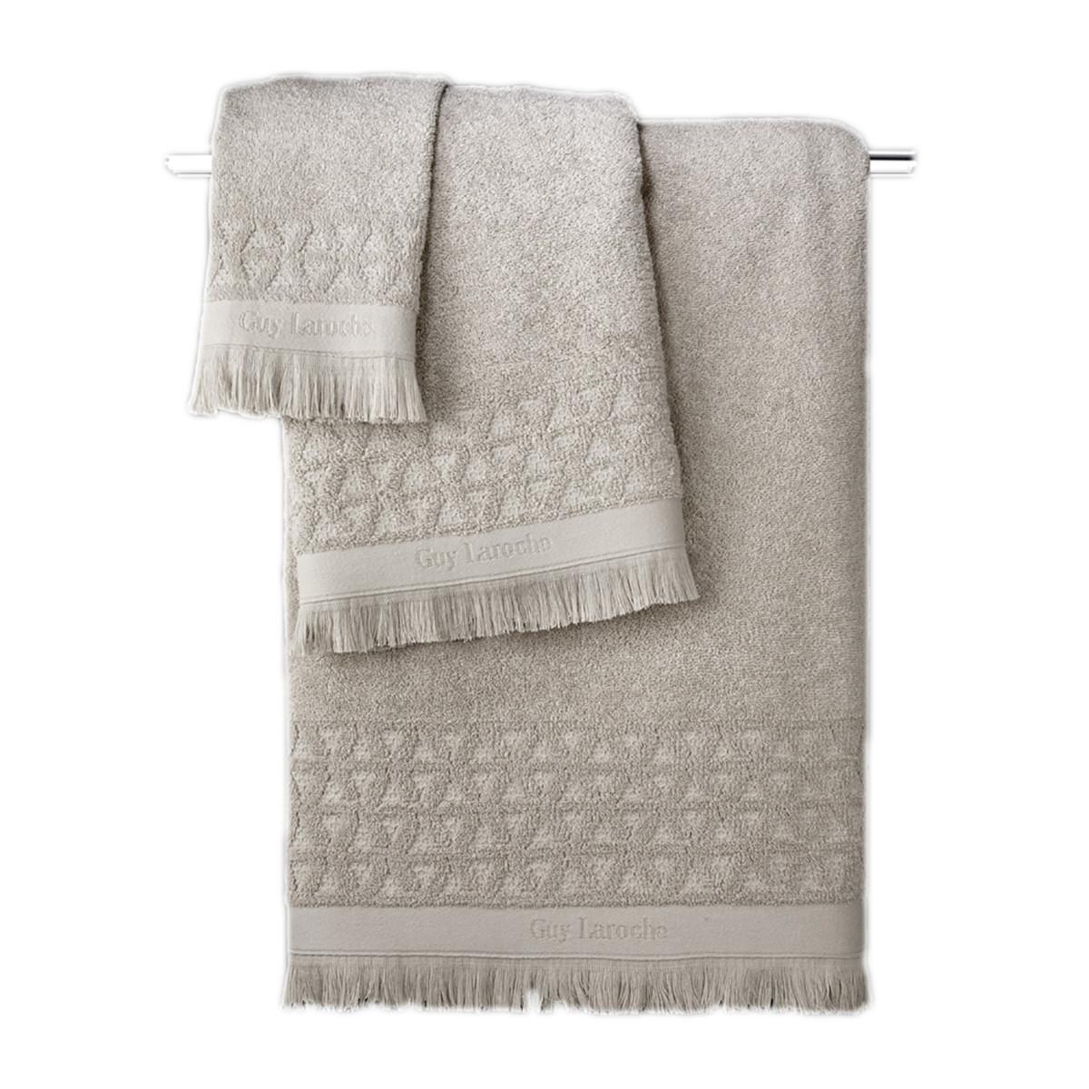 Πετσέτες Μπάνιου (Σετ 3τμχ) Guy Laroche Vergo Natural