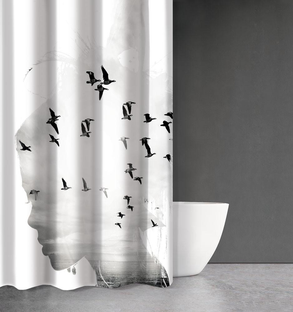Κουρτίνα Μπάνιου (180×200) Saint Clair Abstract Des 106