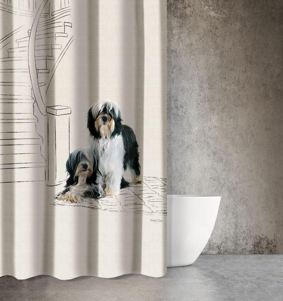 Κουρτίνα Μπάνιου (180×200) Saint Clair Animals Des 207