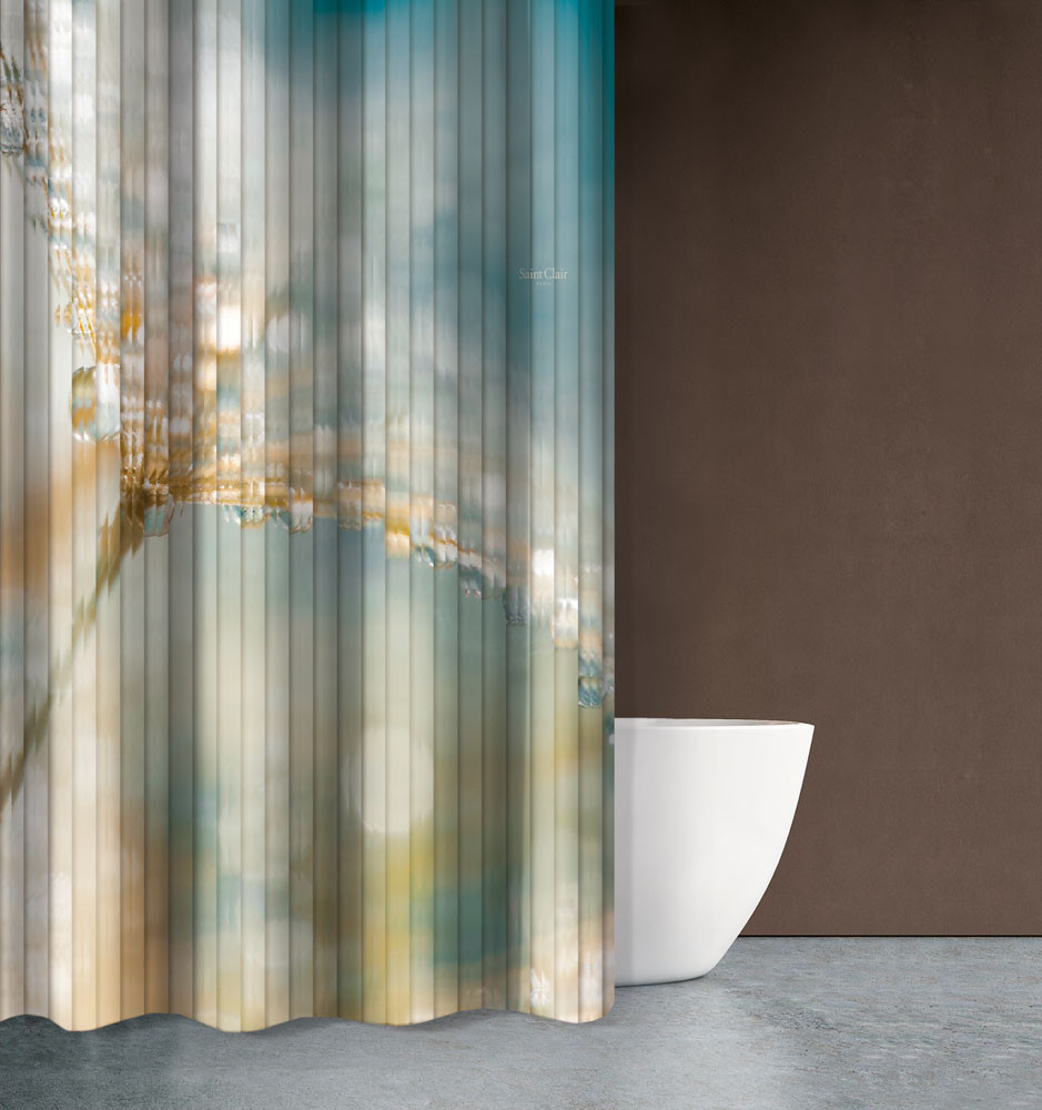 Κουρτίνα Μπάνιου (180×200) Saint Clair Seawater Des 609