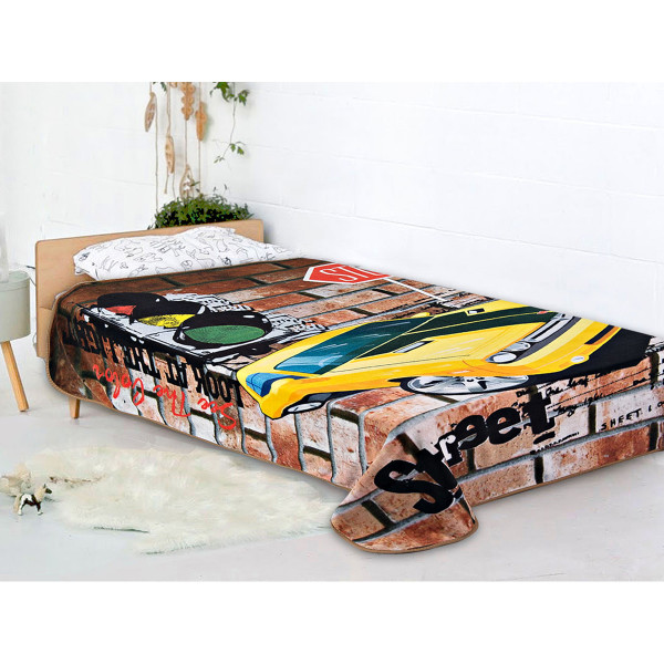Κουβέρτα Fleece Μονή AdamHome Car