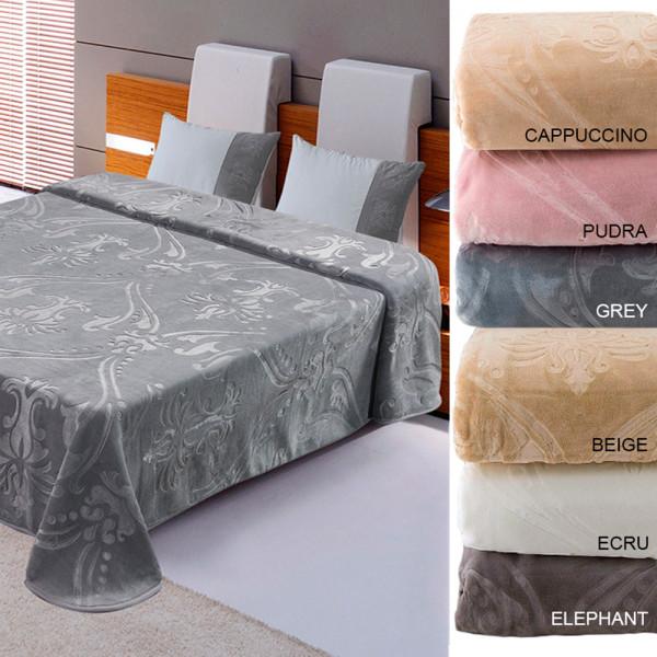 Κουβέρτα Βελουτέ Υπέρδιπλη AdamHome Elegance Ebru