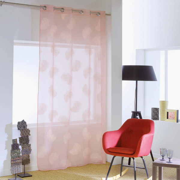 Κουρτίνα (140x240) Με Τρουκς Siloa Rose 1625990