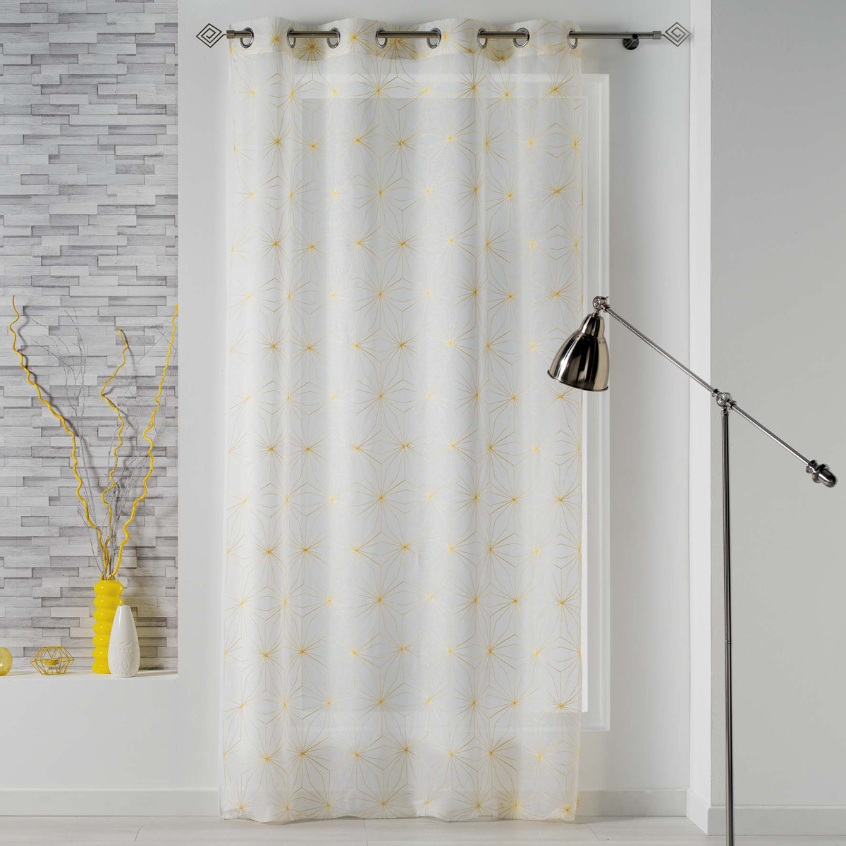 Κουρτίνα (140×240) Με Τρουκς L-C Thales Blanc/Jaune 1626114