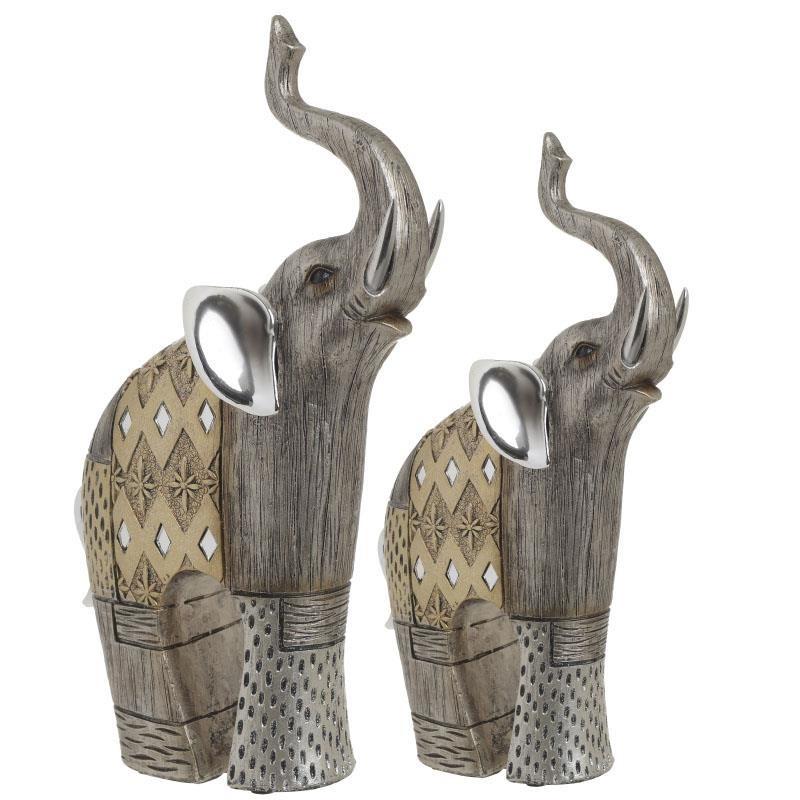 Διακοσμητικοί Ελέφαντες (Σετ 2τμχ) InArt 3-70-547-0602