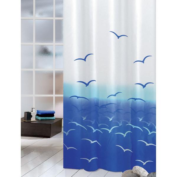 Κουρτίνα Μπάνιου (180x200) Joy Bath Seagulls