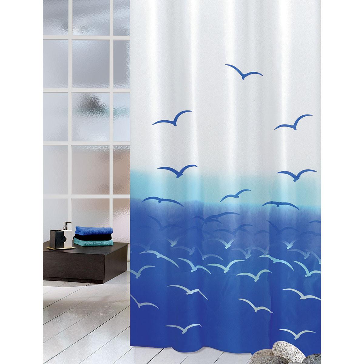 Κουρτίνα Μπάνιου (180×200) Joy Bath Seagulls