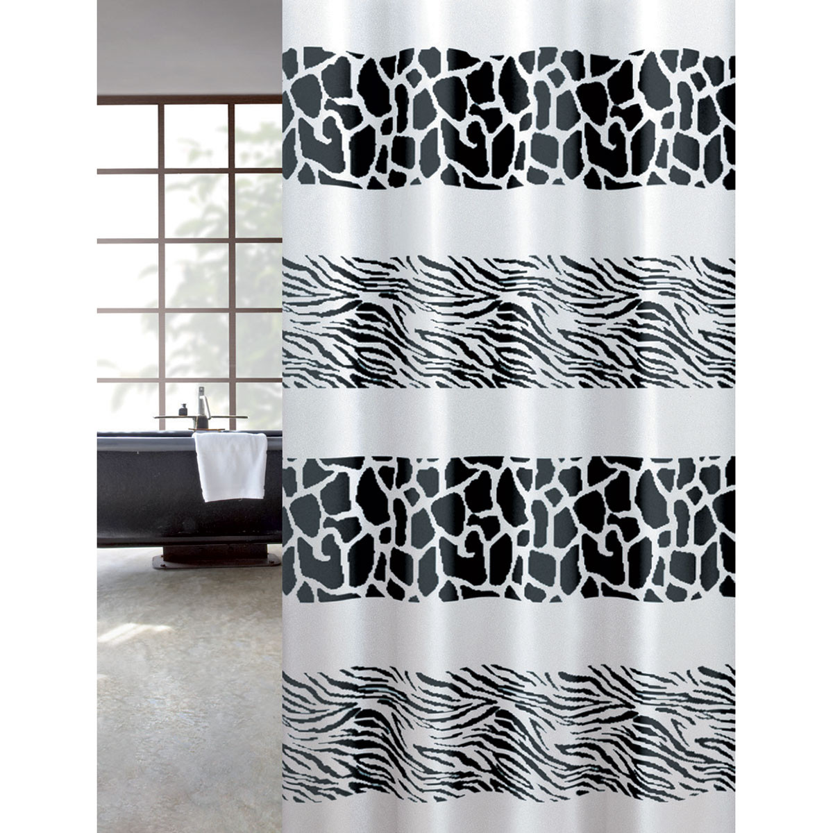 Κουρτίνα Μπάνιου (180×200) Joy Bath Zebra