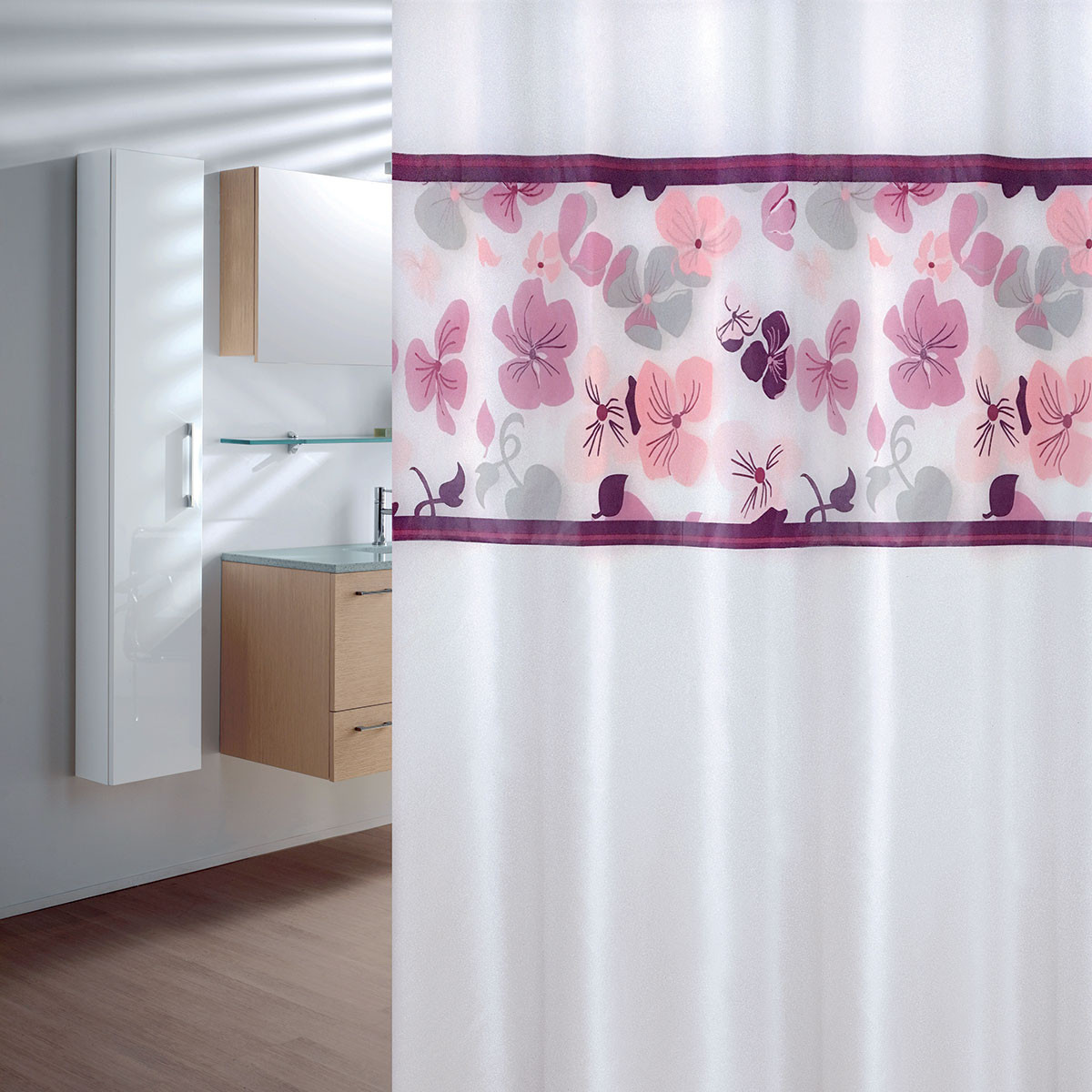 Κουρτίνα Μπάνιου Πλαστική (180×200) Joy Bath Flowers