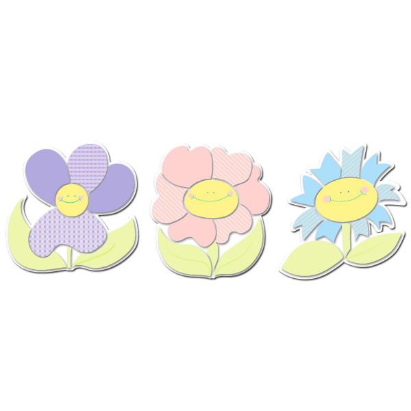 Παιδικά Αφρώδη Αυτοκόλλητα Τοίχου Ango Smiling Flowers 11203
