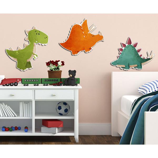 Παιδικά Αφρώδη Αυτοκόλλητα Τοίχου Ango Dinosaurs 11206
