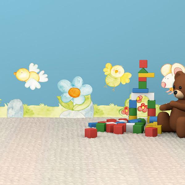 Παιδική Αυτοκόλλητη Μπορντούρα Τοίχου Ango Funny Animals 14001