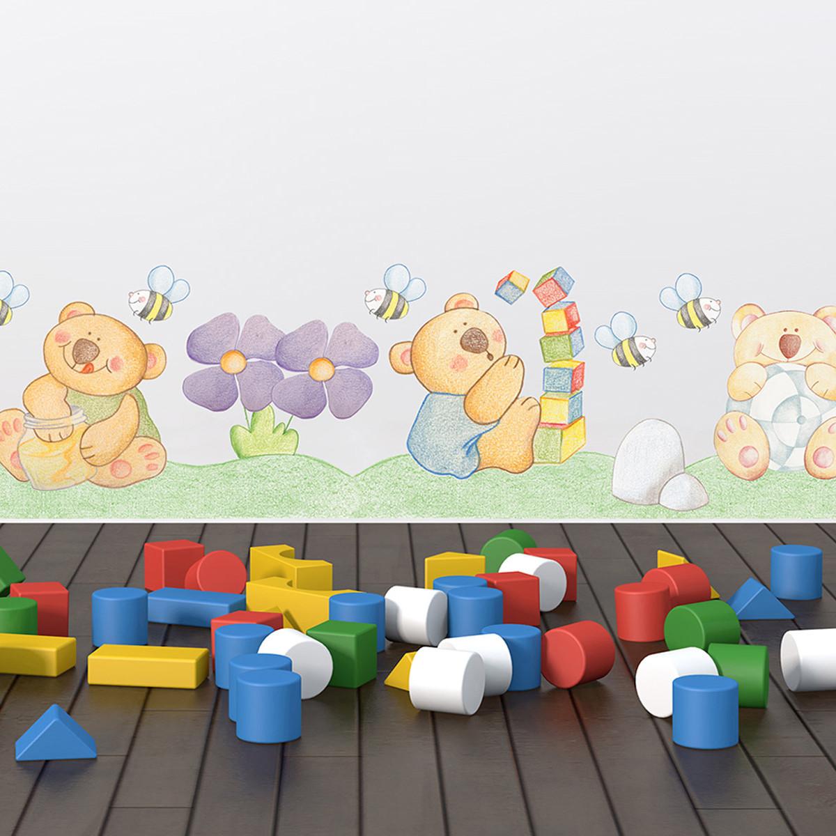 Παιδική Αυτοκόλλητη Μπορντούρα Τοίχου Ango Bear Brothers 14002 home   παιδικά   παιδική διακόσμηση