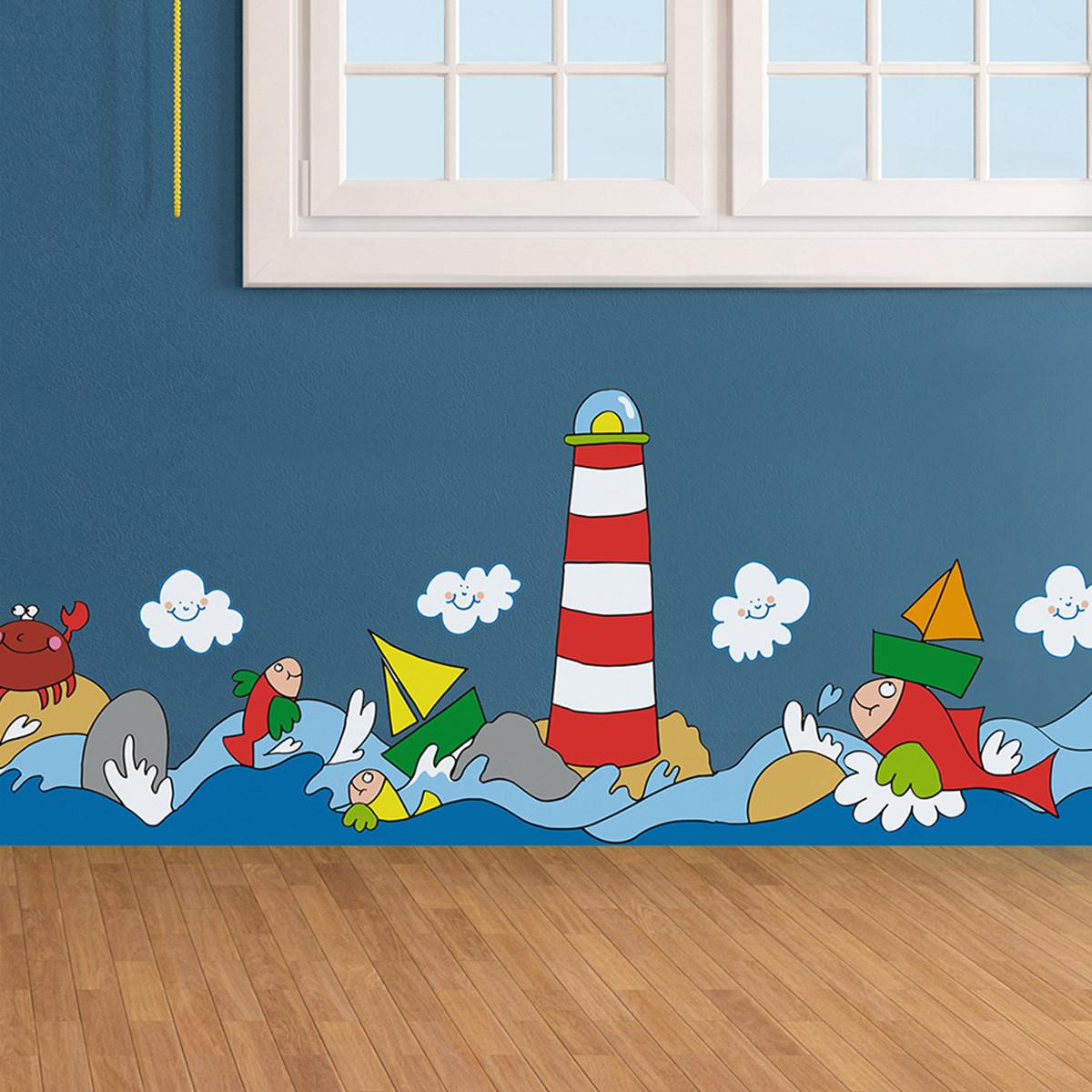 Παιδική Αυτοκόλλητη Μπορντούρα Τοίχου Ango Sea 14003 home   παιδικά   παιδική διακόσμηση