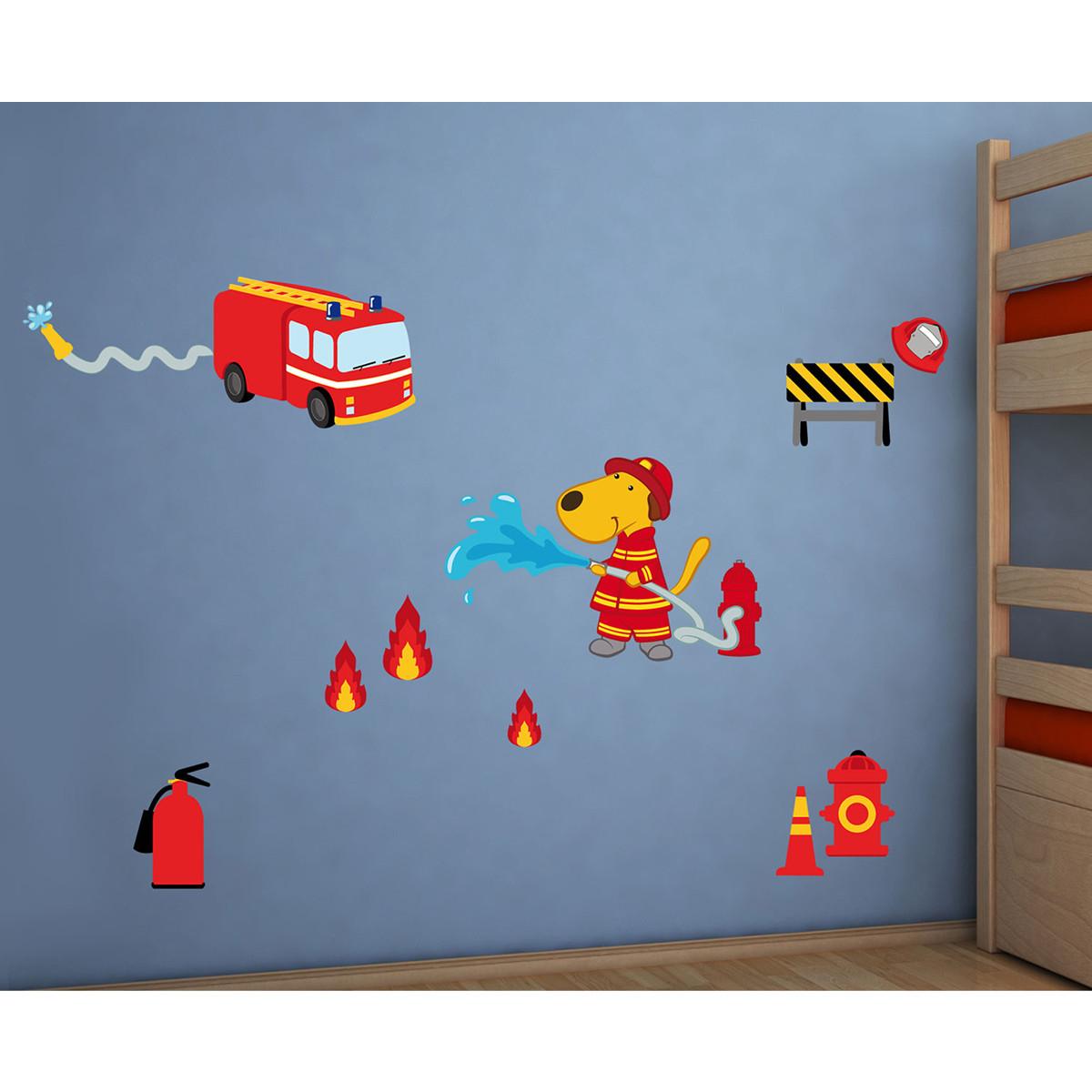 Παιδικά Αυτοκόλλητα Τοίχου Ango Fireman 18105