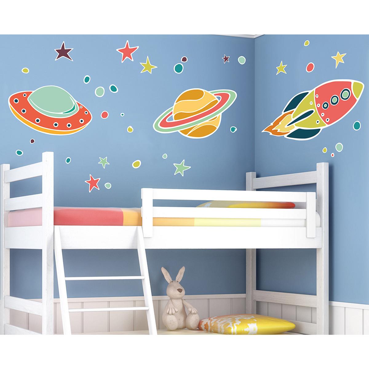 Παιδικά Αυτοκόλλητα Τοίχου Ango UFO 18306 home   παιδικά   παιδική διακόσμηση