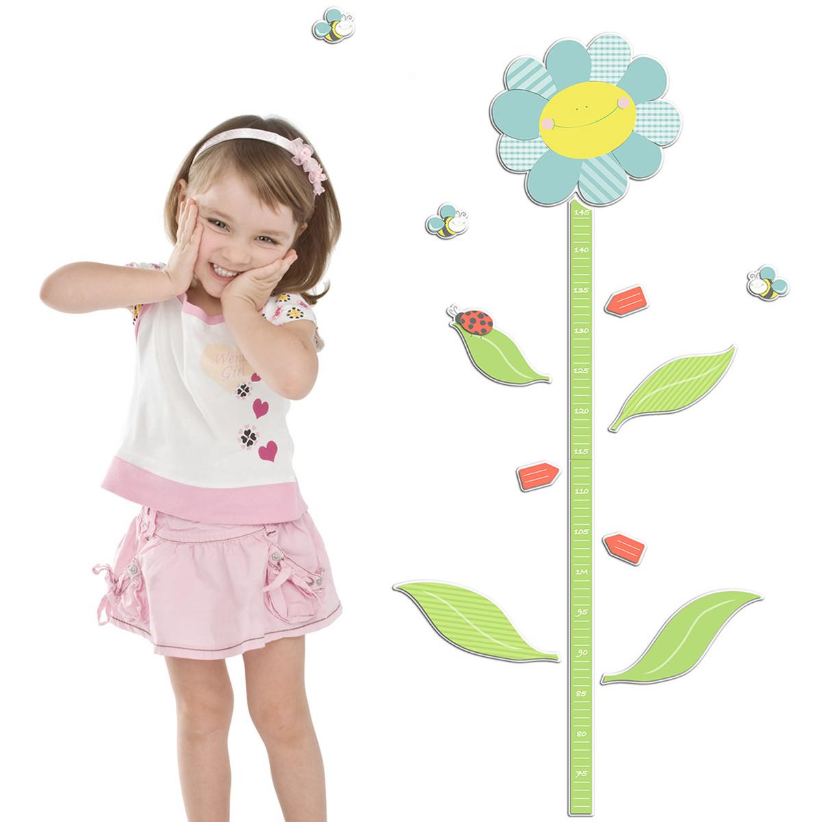 Παιδικός Αφρώδης Υψομετρητής Τοίχου Ango Smiling Flowers 18503 home   παιδικά   παιδική διακόσμηση