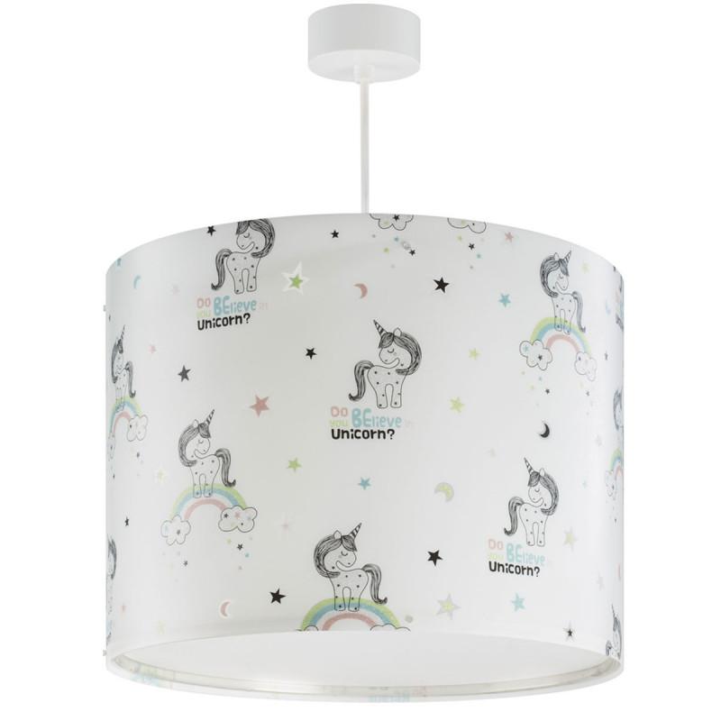 Παιδικό Φωτιστικό Οροφής Μονόφωτο Ango Unicorns 42432
