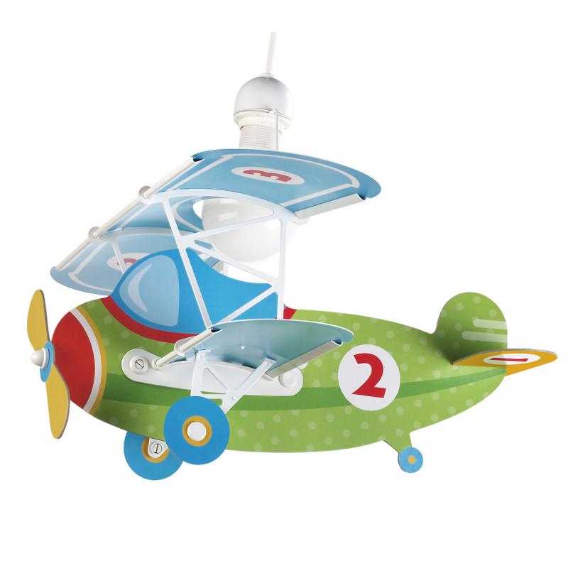 Παιδικό Φωτιστικό Οροφής Μονόφωτο Ango Baby Planes Πράσινο 54022