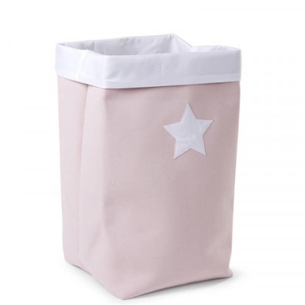 Καλάθι Αποθήκευσης ChildHome Pink White 72384