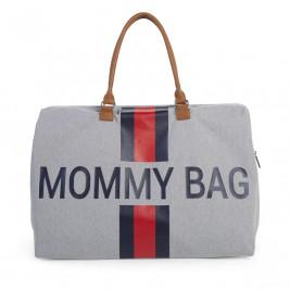 03ffc25c50 Τσάντα Αλλαγής ChildHome Mommy Grey Stripes Red Blue 73457