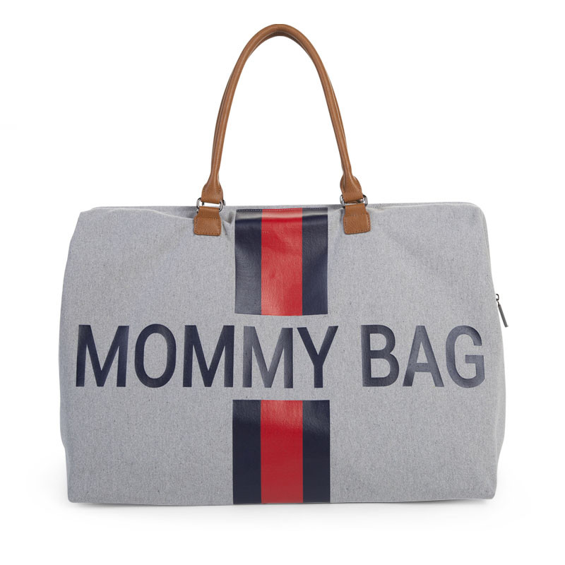Τσάντα Αλλαγής ChildHome Mommy Grey Stripes Red/Blue 73457