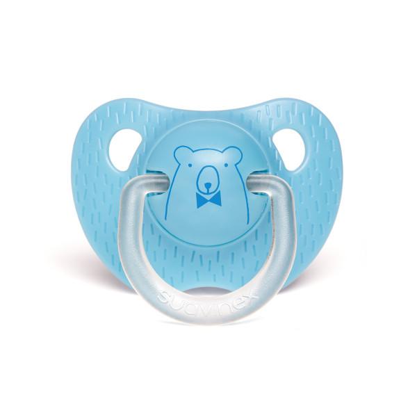 Πιπίλα Σιλικόνης Ανατομική 0-6Μ Suavinex Bear L.Blue
