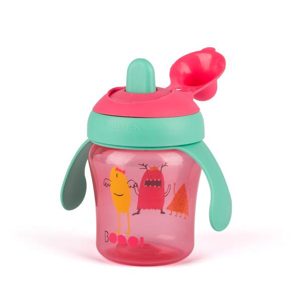 Ποτήρι Εκπαιδευτικό 200ml Suavinex Non Drip Booo! Pink