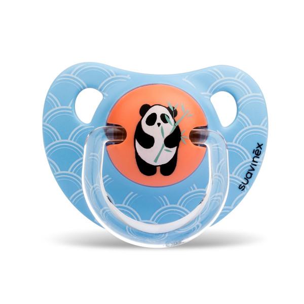 Πιπίλα Σιλικόνης Ανατομική 6-18Μ Suavinex Panda Blue