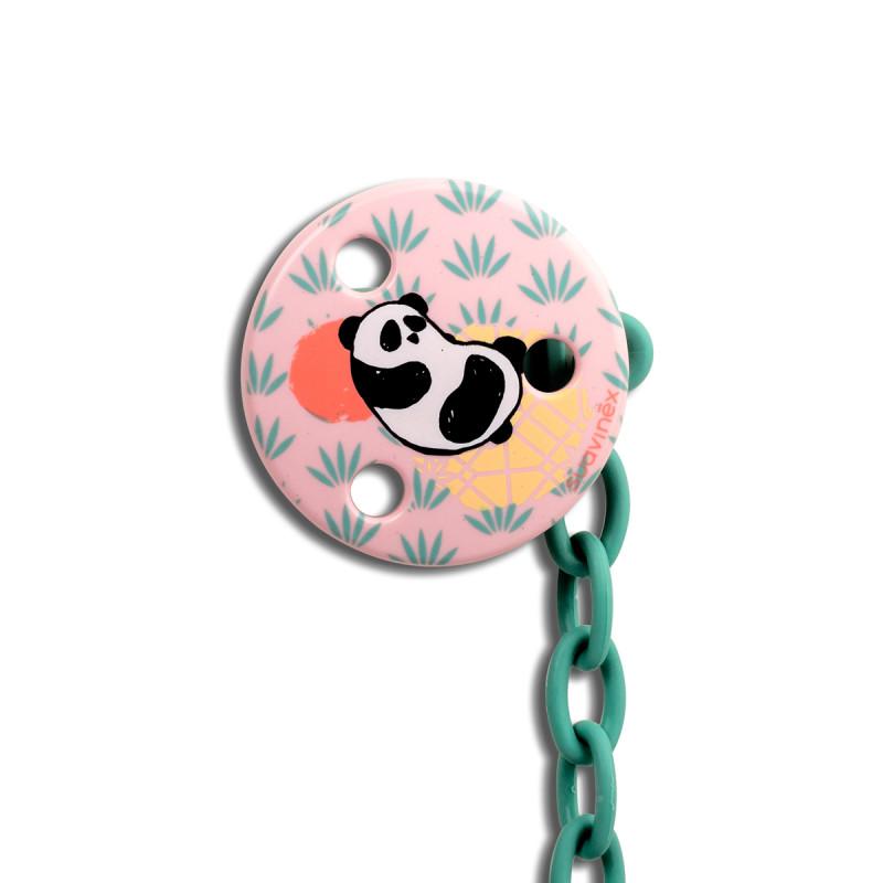 Κλιπ Πιπίλας Suavinex Panda Pink