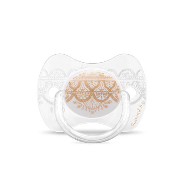 Πιπίλα Σιλικόνης Φυσιολογική 0-4Μ Suavinex H.Couture Gold