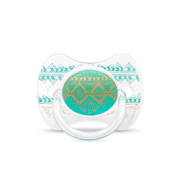 Πιπίλα Σιλικόνης Φυσιολογική 0-4Μ Suavinex H.Couture Green